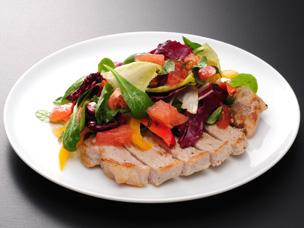 塩豚ロースと大盛り野菜