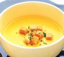 豆乳入りかぼちゃスープ